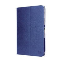 Tablet case pu leather for Galaxy Tab 4 10.1 blue Smart Media