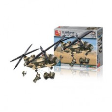 Building Blocks Army Series Transport Helicopter Gadgets & Gifts