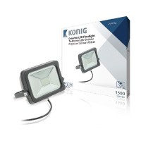 LED Floodlight zonder Driver 20 W 1500 lm Zwart